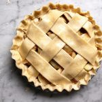 uncooked apple pie lattice crust