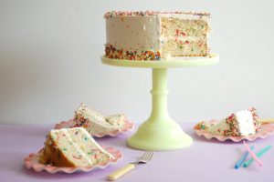 Sprinkle Buttermilk Birthday Cake