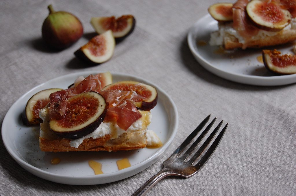 Tartine With Fresh Ricotta, Figs, and Prosciutto