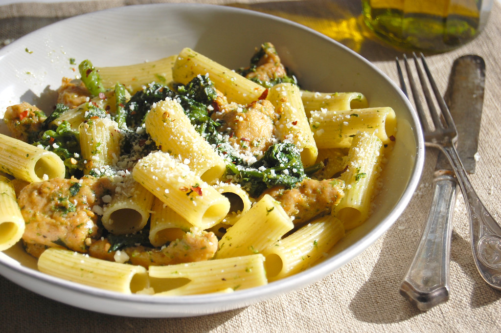 Broccoli Rabe Pasta With Italian Chicken Sausage