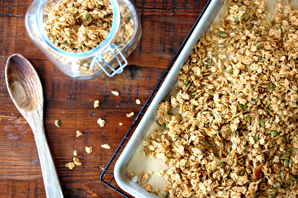 Honey Maple Granola With Pumpkin Seeds