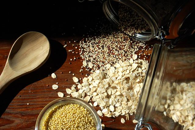 whole grains on wood coronavirus quarantine eat well