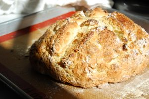 soda bread on baking pan