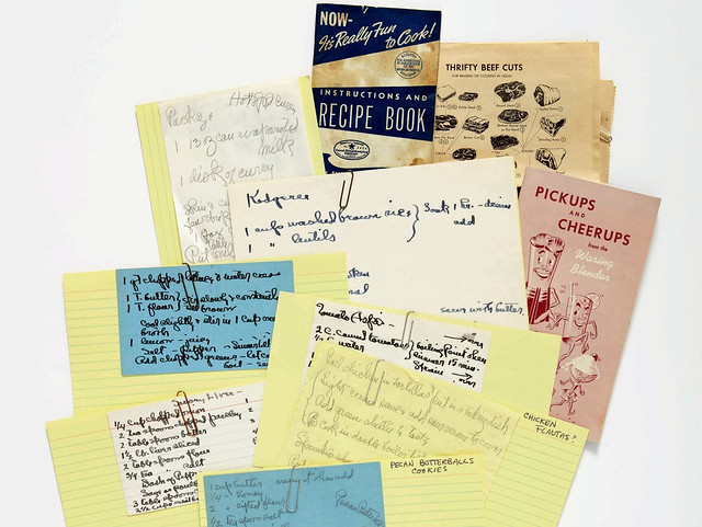 georgia o'keeffe recipe cards favorite food writing march