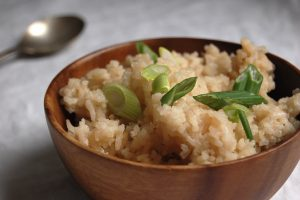 Coconut Rice With Fresh Ginger - Unpeeled
