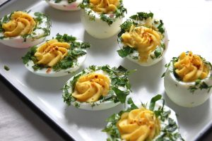 Deviled Eggs With Fresh Spring Herbs - Unpeeled
