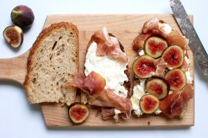 Ricotta Fig Toast With Prosciutto + Honey
