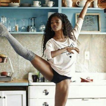 ballerina nardia boodoo in kitchen