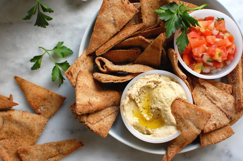 Homemade Pita Chips With Sea Salt