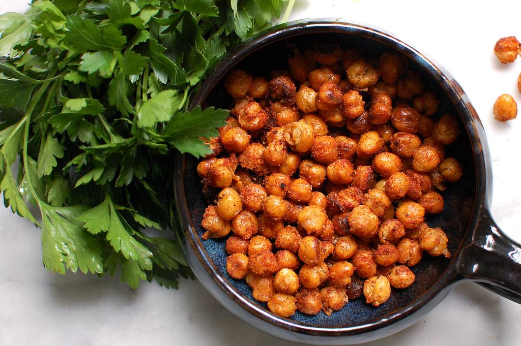 Crispy Pan Roasted Chickpeas