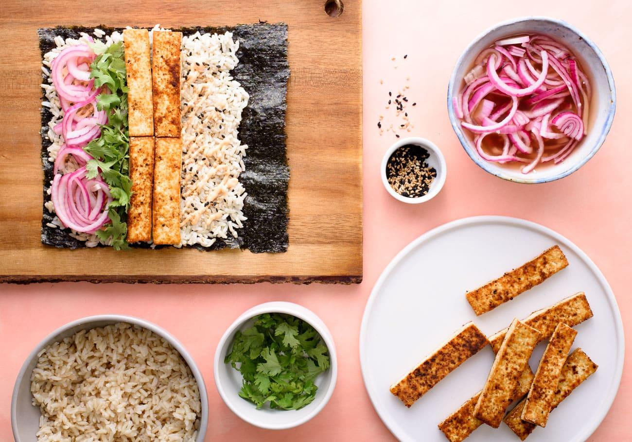 sushi burrito vegetables food photographer