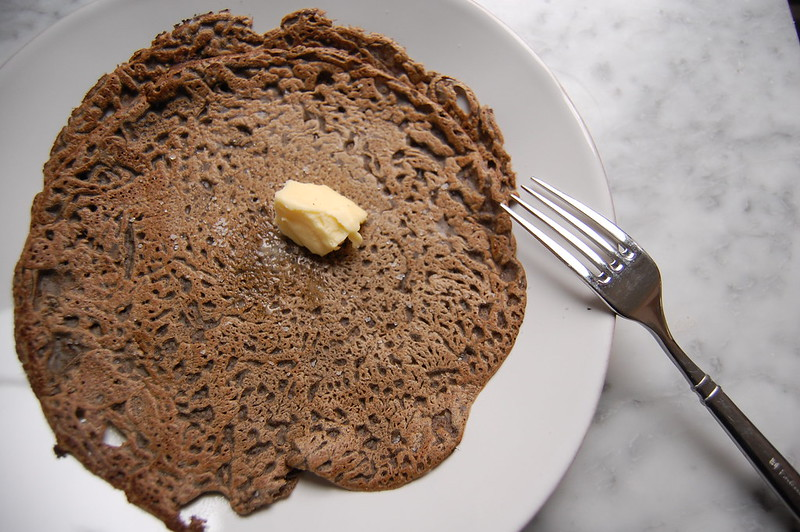 buckwheat galette buckwheat with butter on plate