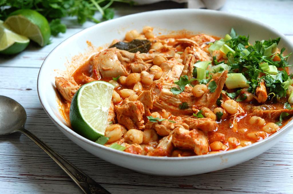 Chicken Pozole Rojo Recipe: Mexican Chicken + Hominy Stew