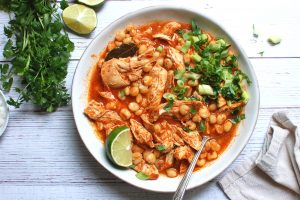Authentic Chicken Pozole Rojo Recipe: Mexican Chicken + Hominy Stew