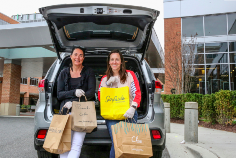 feed the fight's elena tompkins with car and food delivery meals at hospital
