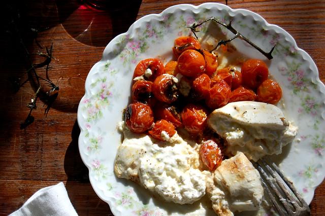 Burrata With Roasted Vine Tomatoes - Unpeeled