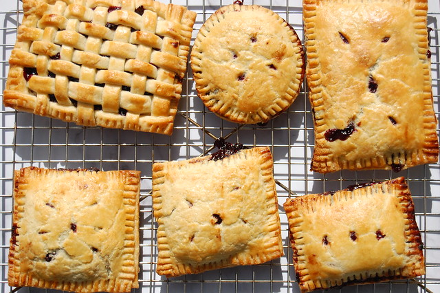 blueberry hand pies on cooling rack for late summer desserts