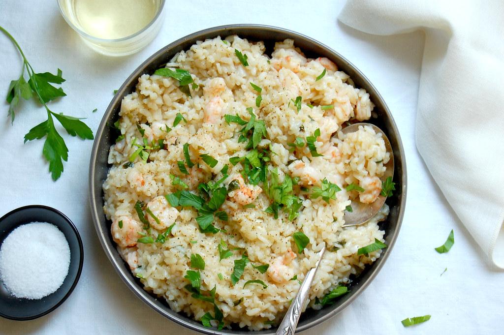 Shrimp Scampi-Style Risotto