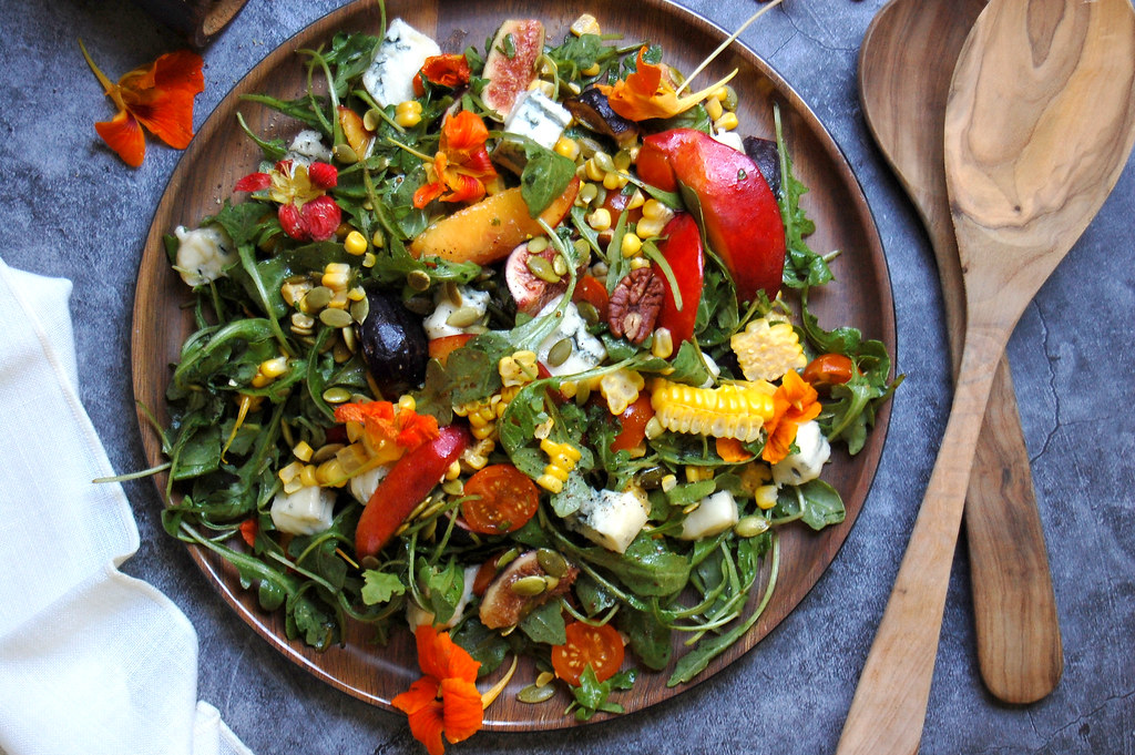 Summer Salad With Stone Fruit and Gorgonzola