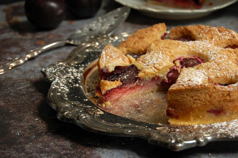 sliced plum torte nytimes summer dessert