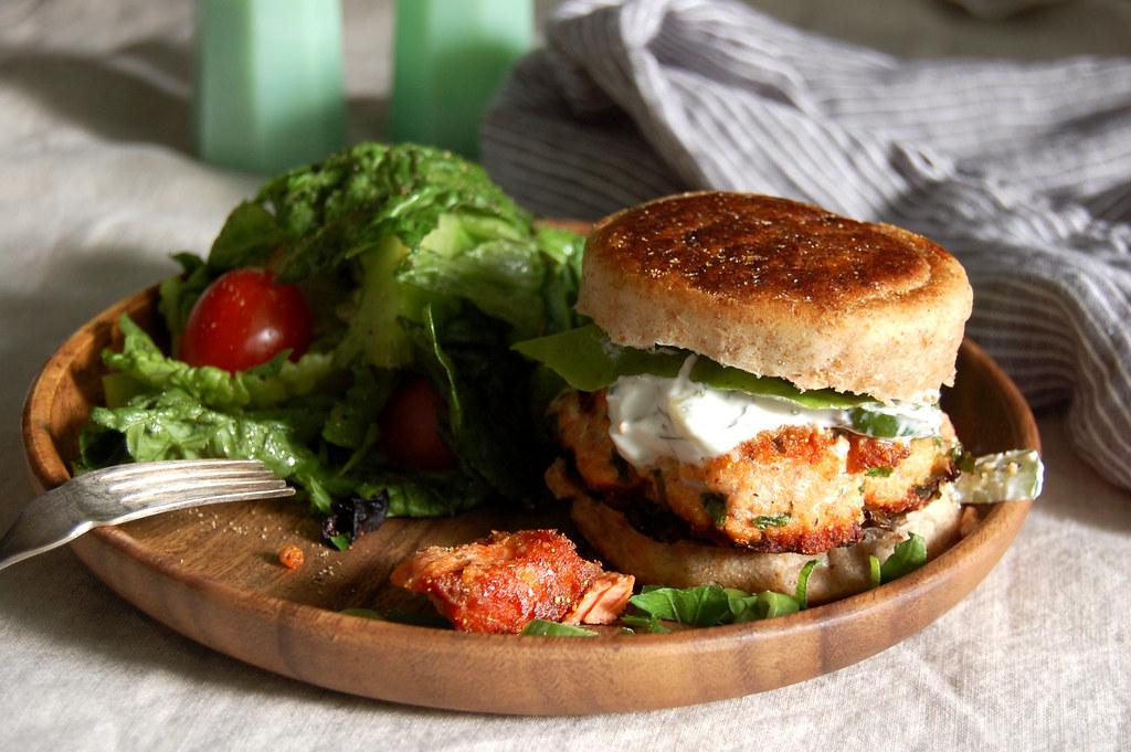 Salmon Burgers With Tzatziki Special Sauce