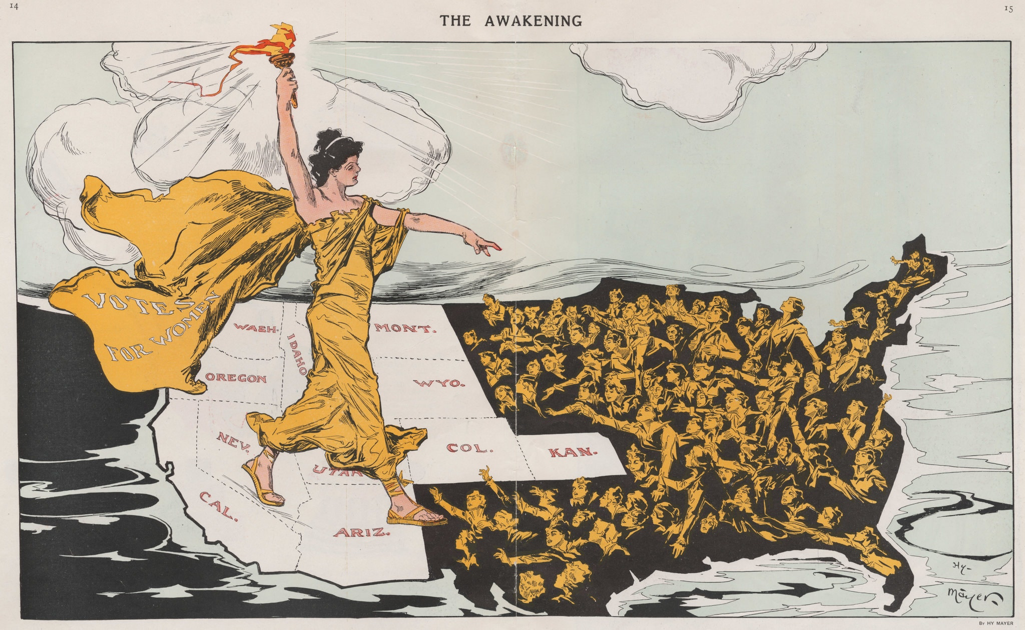 a map of suffrage rights