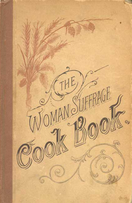 cover of woman suffrage movement food cookbook