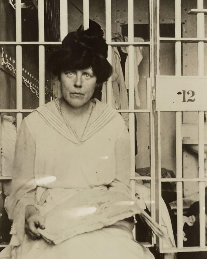 suffragist Lucy Burns imprisoned in 1917