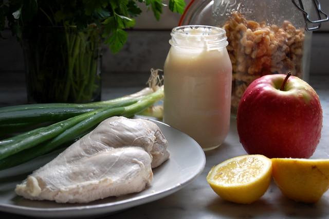 chicken salad ingredients mayo apple lemon chicken herbs