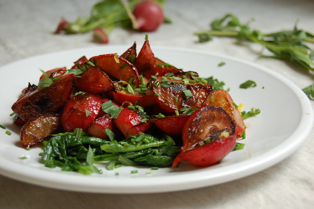 Buttered Pan-Roasted Radishes