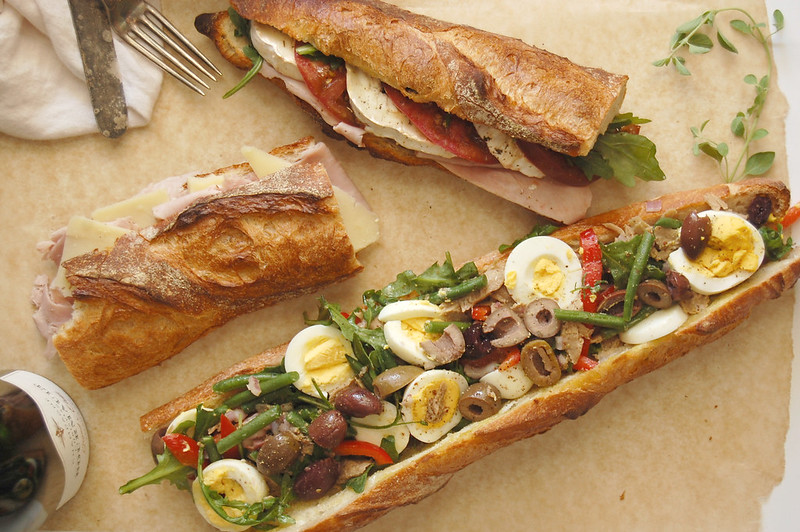 3 Classic French Baguette Sandwiches - UnpeeledJournal