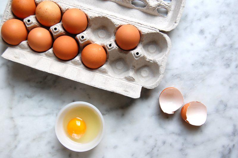 dozen eggs in crate