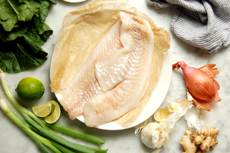 coconut milk fish ingredients code scallions, lime, garlic, coconut milk