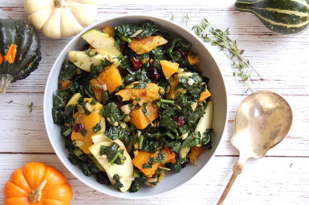 Harvest Kale Salad With Cider Vinaigrette