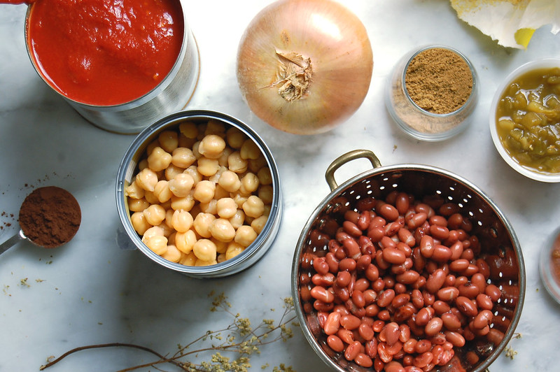 full of beans vegetarian chili ingredients beans onion cumin tomato spices