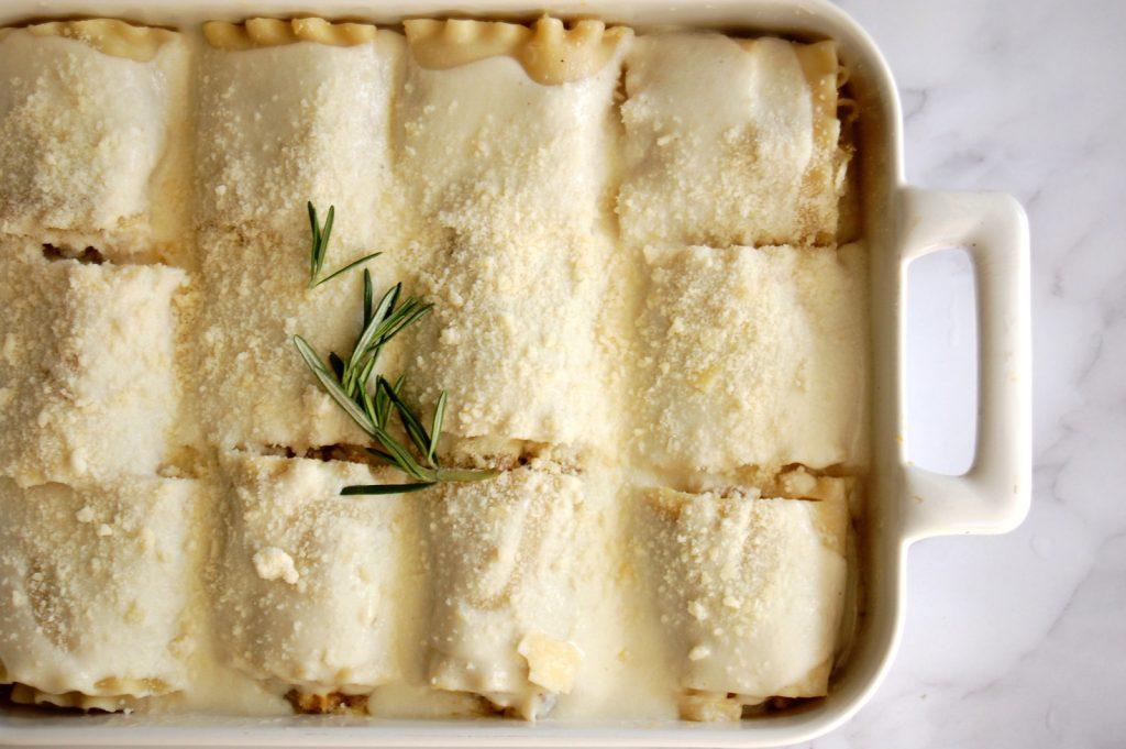 Sausage Butternut Squash Lasagna Roll-Ups