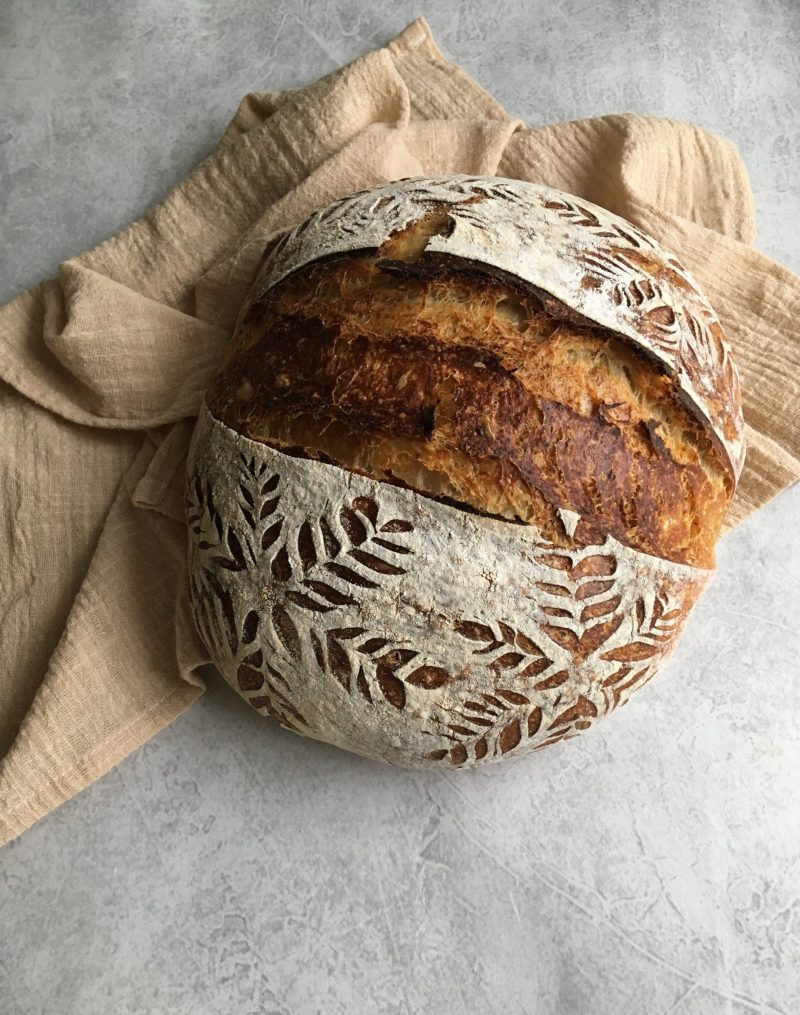 elizabeth tulis country loaf with sourdough discard starter