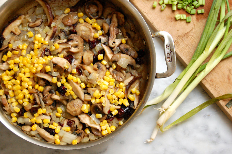 sauteed corn and mushrooms for native american recipe
