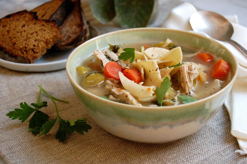 bowl of turkey soup recipe