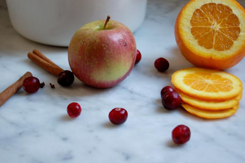 ingredients for pink apple cider