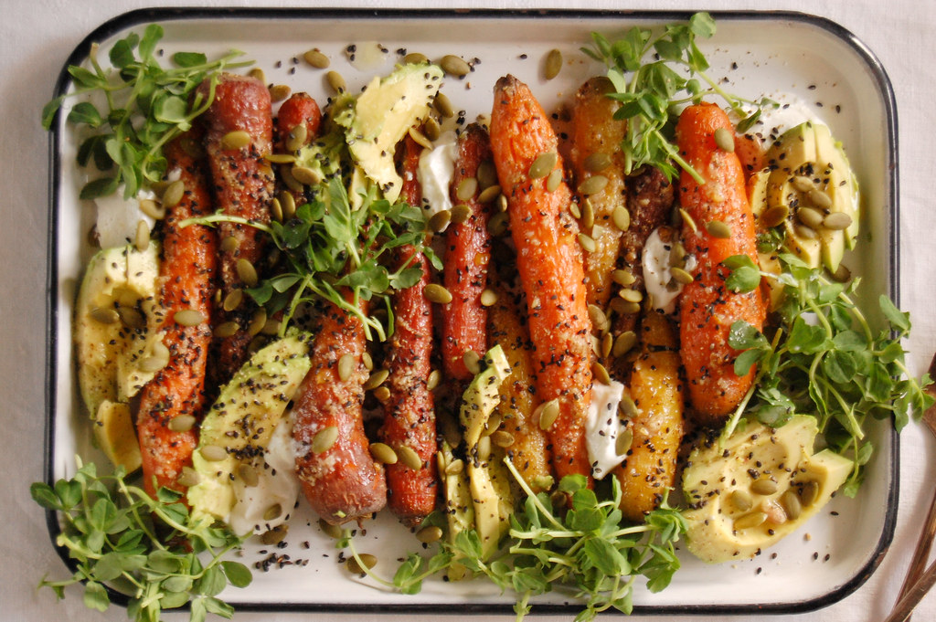 Roasted Carrots With Citrus and Avocado