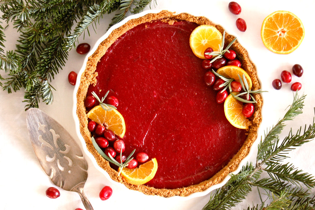Holiday Cranberry Curd Tart