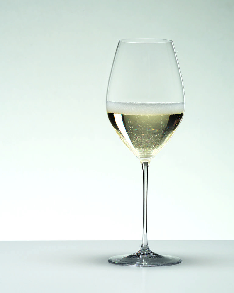 champagne in white wine glass