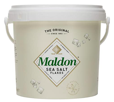 bucket of maldon salt holiday 2020 gift guide for home cooks
