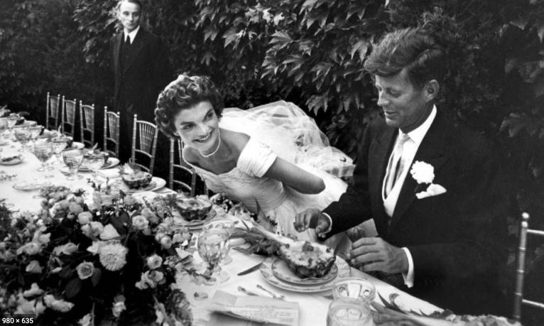 JFK and Jackie Kennedy Wedding Photo