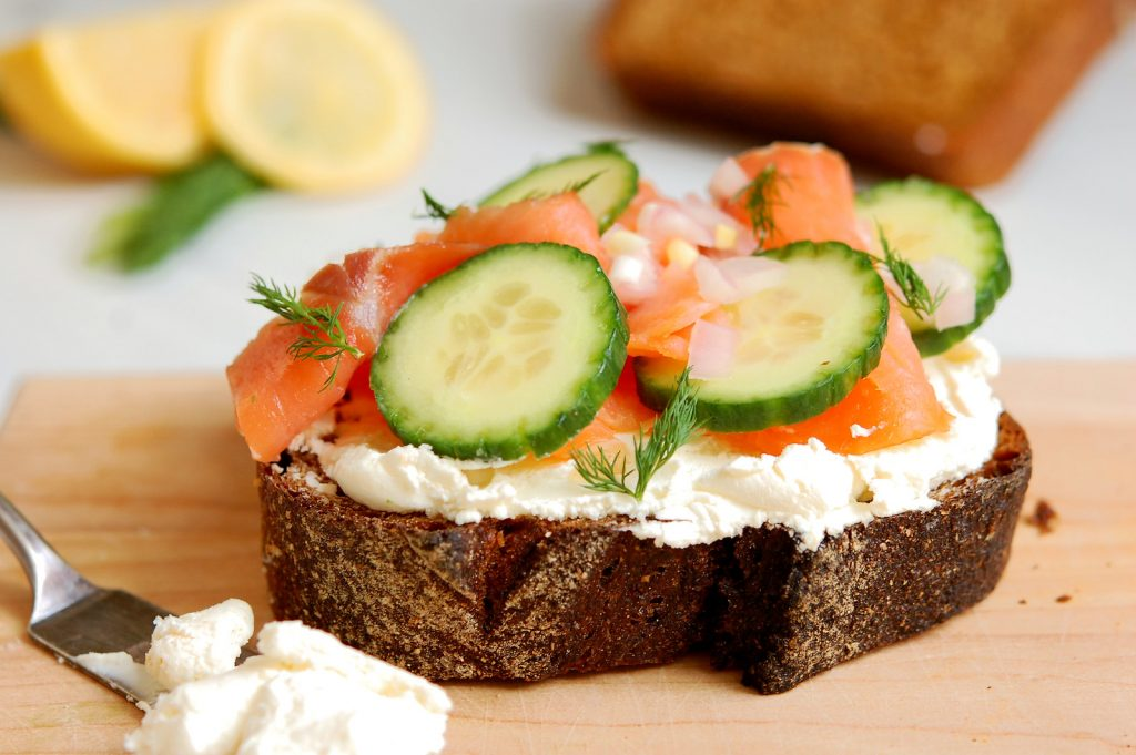 Cured Salmon + Cucumber Smørrebrød