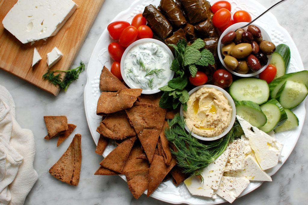 Greek Mediterranean Mezze Platter