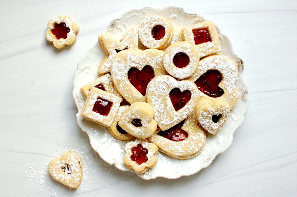 Valentine's Day Linzer Sugar Cookies