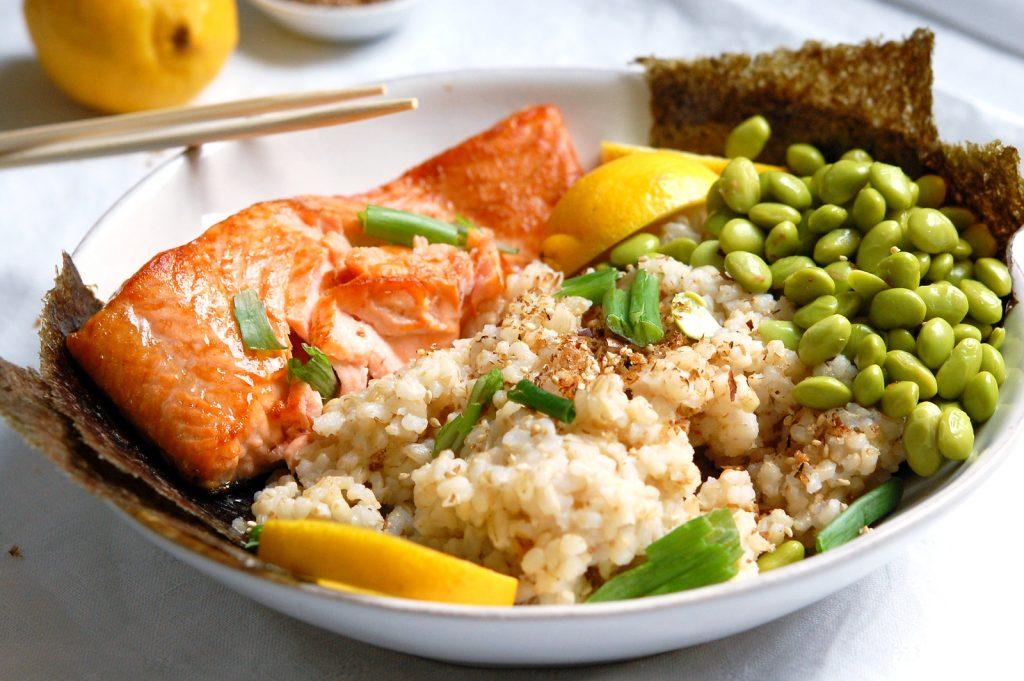 Japanese Salmon Rice Bowls