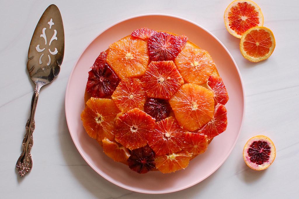 Poached Orange Ginger Jewel Cake
